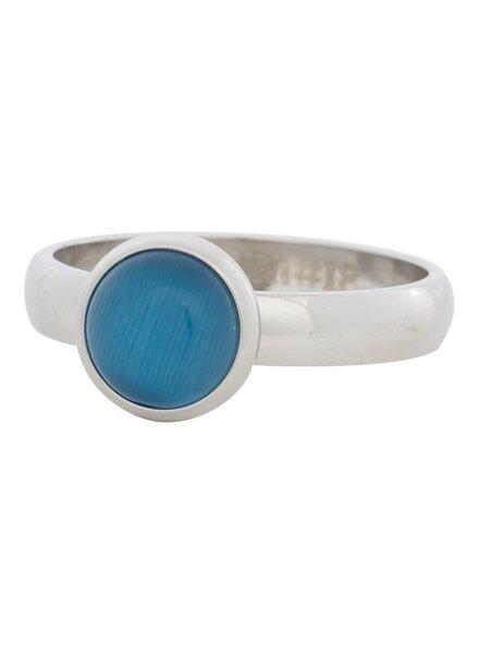 iXXXi Jewelry iXXXi Ring  Cat Eye Blue  Zilver– R4306-3