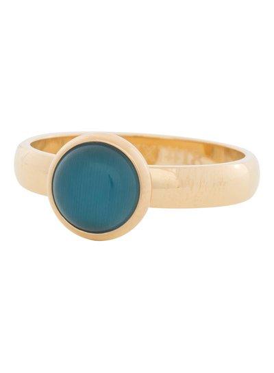 iXXXi Jewelry iXXXi Ring 4 mm  Cat Eye Blue  Goud – R4306-1