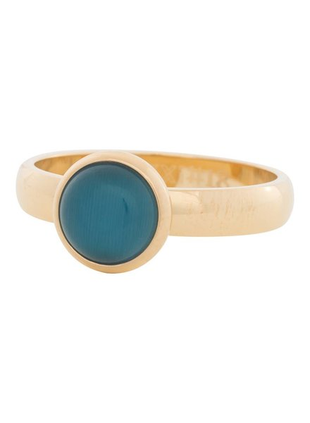 iXXXi Jewelry iXXXi Ring  Cat Eye Blue  Goud – R4306-1