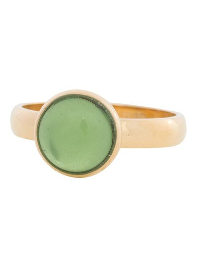 iXXXi Jewelry iXXXi Ring 4 mm  Green Stone  Goud – R4305-1