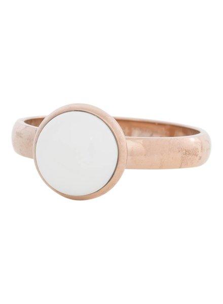 iXXXi Jewelry iXXXi Ring  White Stone  Rose– R4302-2