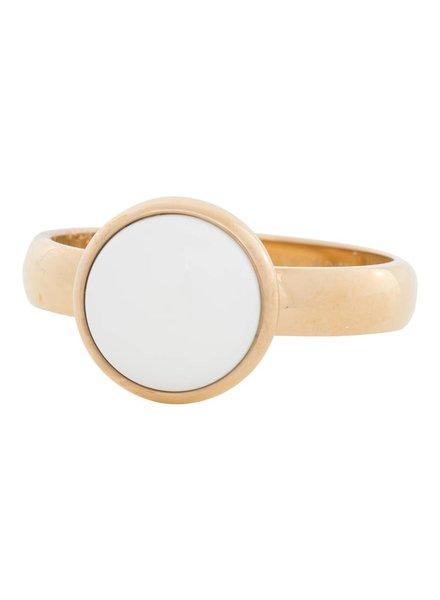iXXXi Jewelry iXXXi Ring  White Stone  Goud – R4302-1