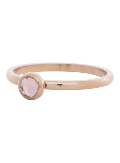 iXXXi Jewelry iXXXi Ring 2 mm  Zirconia rose 1 steen Rose– R4107-2