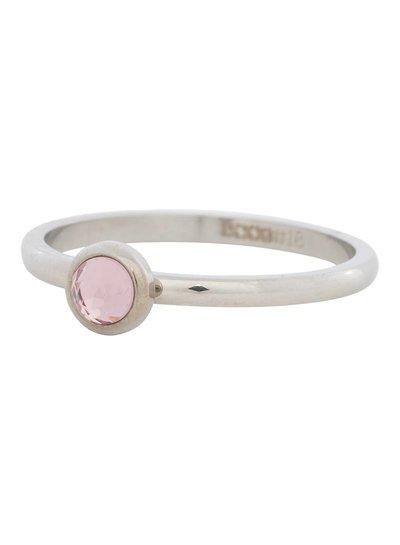 iXXXi Jewelry iXXXi Ring 2 mm  Zirconia rose 1 steen Zilver– R4107-3