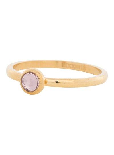 iXXXi Jewelry iXXXi Ring 2 mm  Zirconia rose 1 steen Goud – R4107-1