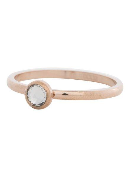 iXXXi Jewelry iXXXi Ring  Zirconia white 1 steen Rose– R4106-2