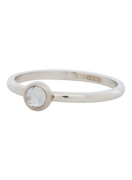 iXXXi Jewelry iXXXi Ring  Zirconia white 1 steen Zilver– R4106-3