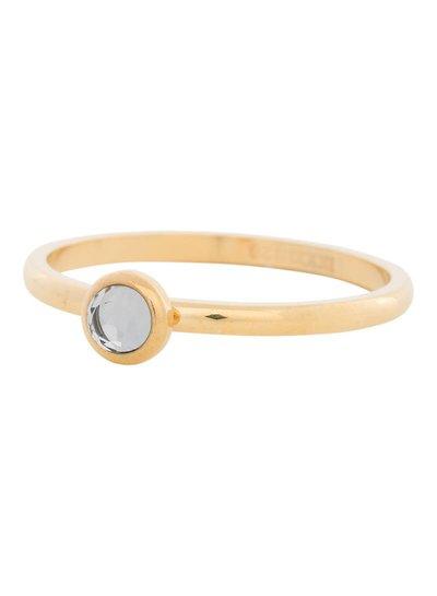 iXXXi Jewelry iXXXi Ring 2 mm  Zirconia white 1 steen Goud – R4106-1