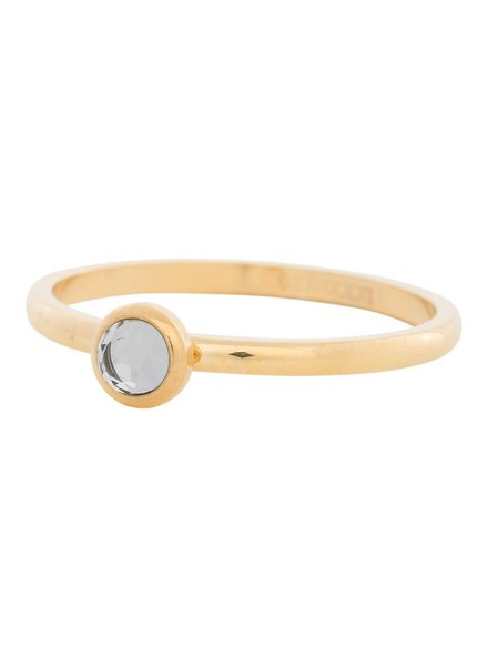 iXXXi Jewelry iXXXi Ring  Zirconia white 1 steen Goud – R4106-1