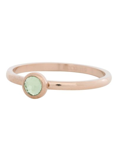 iXXXi Jewelry iXXXi Ring 2 mm  Zirconia light green 1 steen Rose– R4105-2