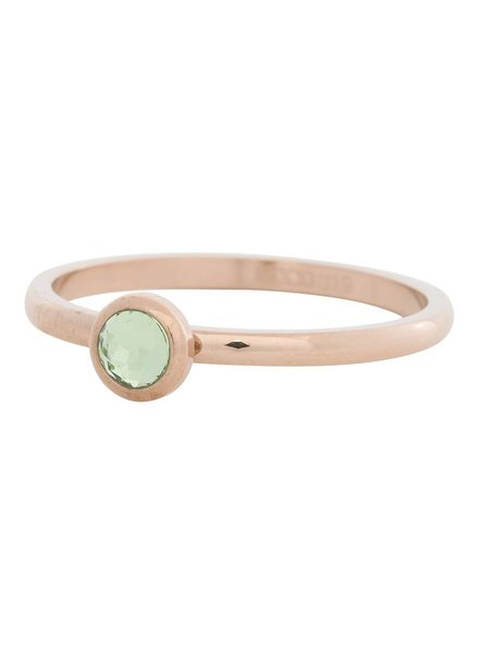 iXXXi Jewelry iXXXi Ring  Zirconia light green 1 steen Rose– R4105-2