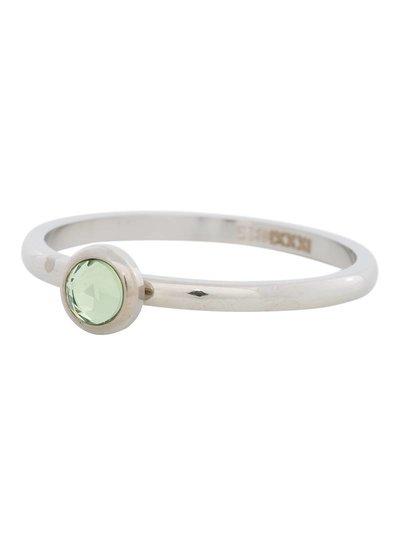 iXXXi Jewelry iXXXi Ring 2 mm  Zirconia light green 1 steen Zilver– R4105-3