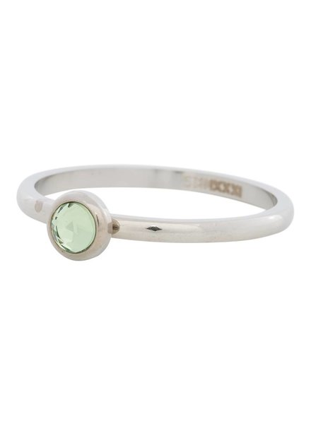 iXXXi Jewelry iXXXi Ring  Zirconia light green 1 steen Zilver– R4105-3