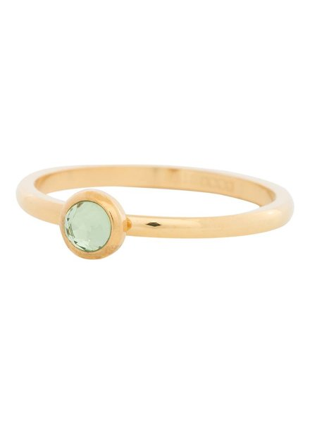 iXXXi Jewelry iXXXi Ring  Zirconia light green 1 steen Goud – R4105-1