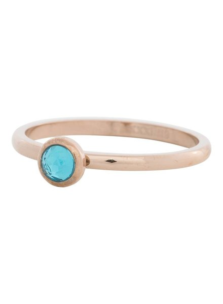 iXXXi Jewelry iXXXi Ring  Zirconia Water Blue 1 steen Rose– R4104-2