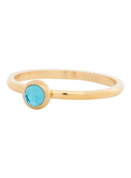 iXXXi Jewelry iXXXi Ring Zirconia Water Blue 1 steen Goud – R4104-1