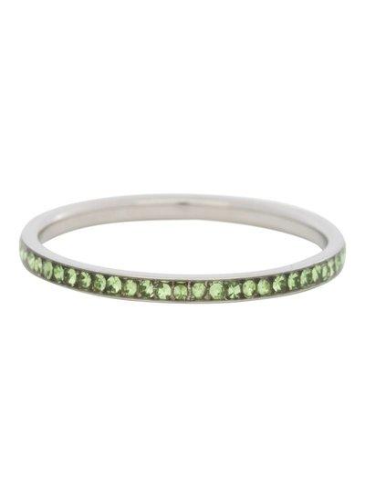 iXXXi Jewelry iXXXi Ring 2 mm Zirconia Peridot Zilver – R2515-3