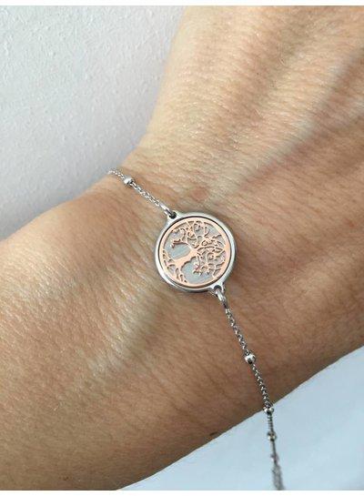 Amen Zilveren armband met stamboom in Sterling Zilver 925