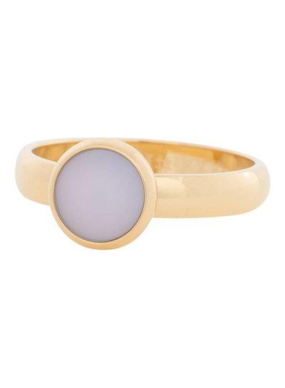 iXXXi Jewelry iXXXi Ring 4mm matt pink stone 1 steen Goud – R4105-1
