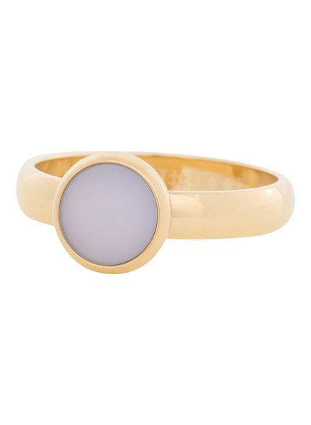 iXXXi Jewelry iXXXi Ring matt pink stone Goud – R4310-1