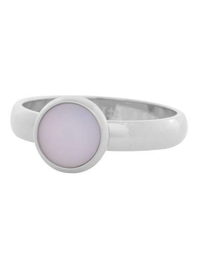 iXXXi Jewelry iXXXi Ring 4mm matt pink stone 1 steen Zilver– R4310-3