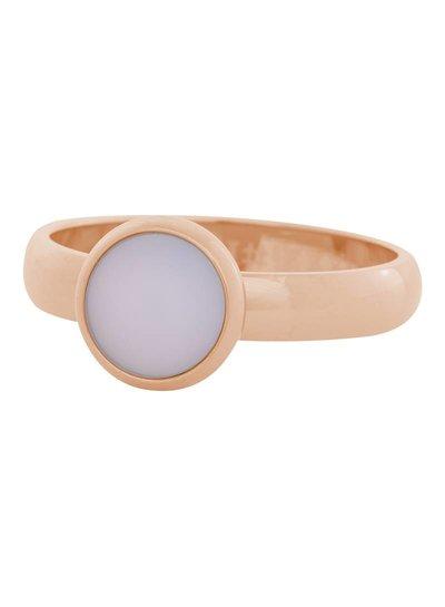 iXXXi Jewelry iXXXi Ring 4mm matt pink stone 1 steen Rose– R4310-2