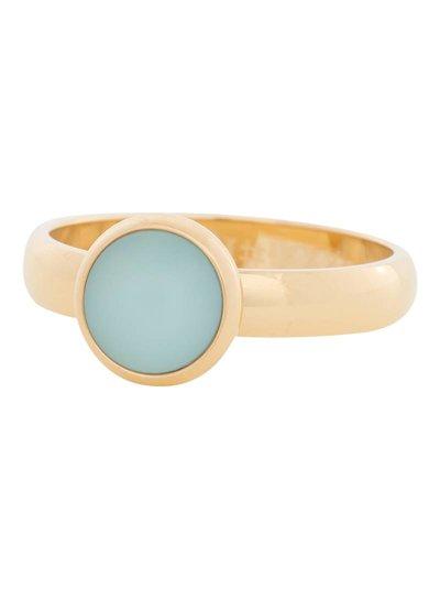 iXXXi Jewelry iXXXi Ring 4mm matt green stone 1 steen Goud – R4311-1