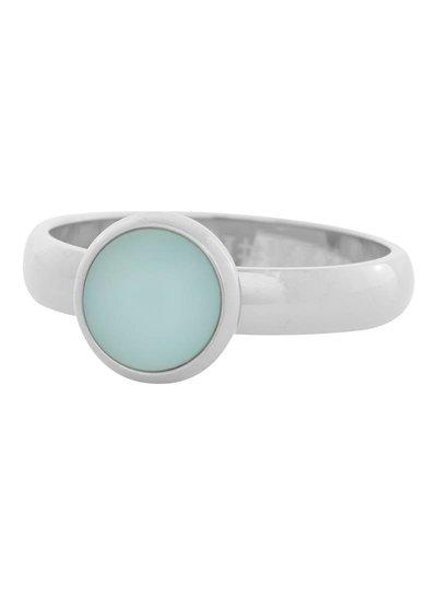 iXXXi Jewelry iXXXi Ring 4mm matt green stone 1 steen Zilver– R4311-3