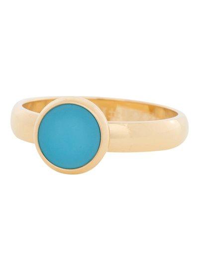 iXXXi Jewelry iXXXi Ring 4mm aqua stone 1 steen Goud – R4313-1