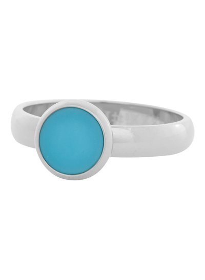 iXXXi Jewelry iXXXi Ring 4mm aqua stone 1 steen Zilver– R4313-3