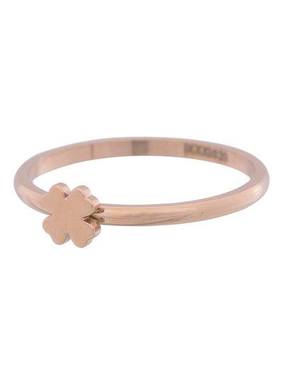 iXXXi Jewelry iXXXi Ring 2 mm Klaver Symbool Rosegoud – R3502-2