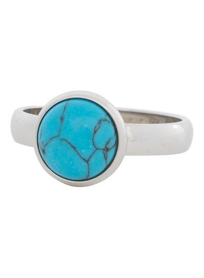 iXXXi Jewelry iXXXi Ring Blue Turquoise Stone Zilver– R4303-3