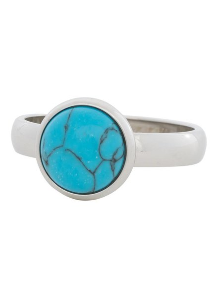 iXXXi Jewelry iXXXi Ring Blue Turquoise Stone Zilver– R4303-3