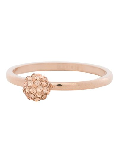 iXXXi Jewelry iXXXi Ring 2 mm 1 Ball Clear Crystal Rose – R4204-2