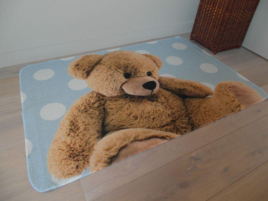 vloerkleed babykamer blauw