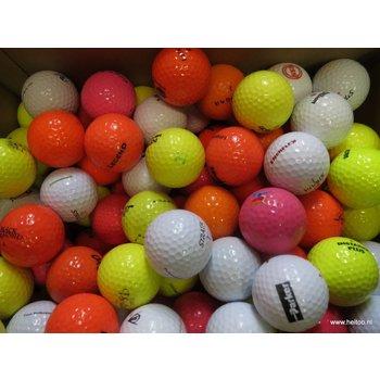 Pakket: 25 witte, 25 gele, 25 oranje en 25 roze AAA kwaliteit