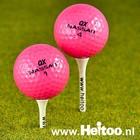 Roze mix golfballen