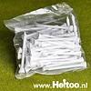 Zakje met 50 witte houten tees 7cm lang
