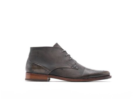 REHAB CAGE BROGUE DARK GREY