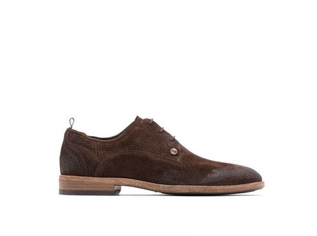 REHAB PAOLO SUEDE DARK BROWN