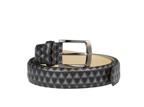 REHAB BELT 3D VERNIZ DARK GREY