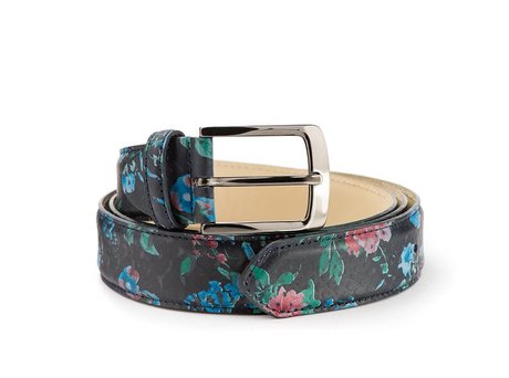 REHAB BELT SNAKE FLOWER BLACK