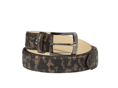 REHAB BELT CROCO ARMY DARK BROWN