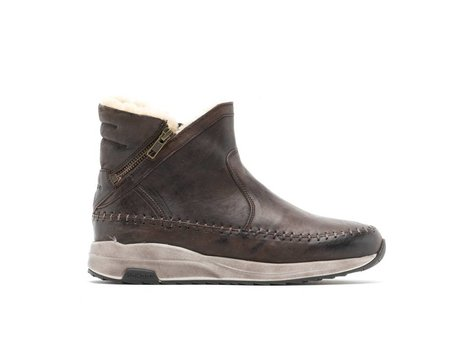 REHAB HOLLY NUBUCK DARK BROWN
