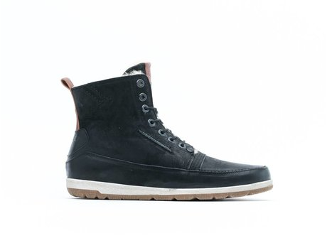 REHAB JOSH HIGH NUBUCK FUR BLACK