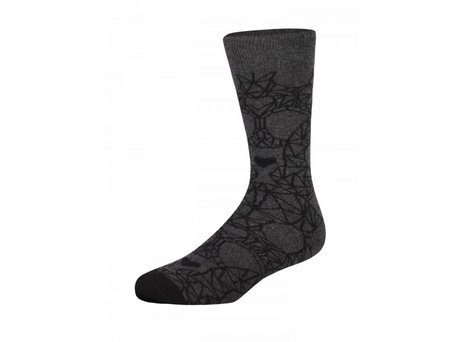 Heroes on Socks GEO SKULL GREY