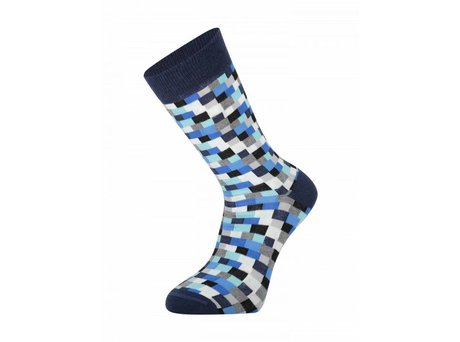 Heroes on Socks BLOCK BLUE