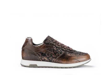 REHAB HAMMOND CROCO ARMY STONE-DARK BROWN