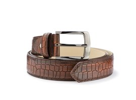 REHAB BELT CROCO BROWN