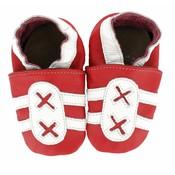Hobea Hobea babyslofje  sport rood wit